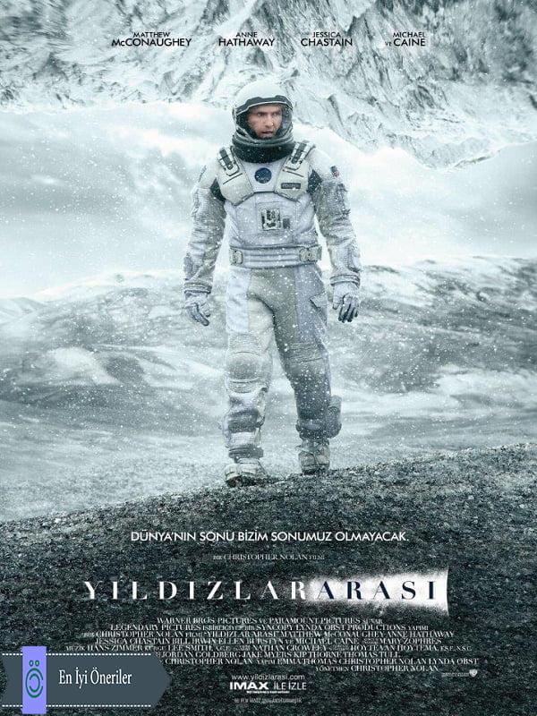 Interstellar Yıldızlararası Film Afişi